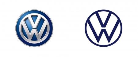 폭스바겐의 이전 로고와 새 로고