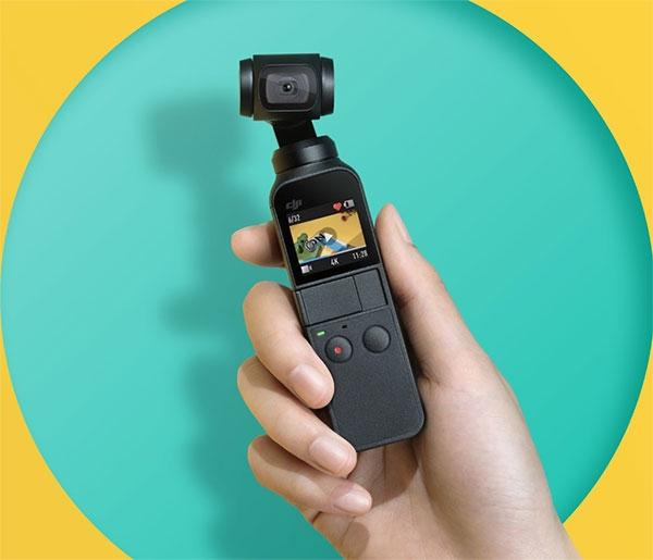 아담한 짐벌 카메라 DJI 오즈모 포켓(출처: DJI 홈페이지)