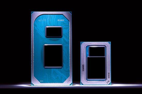 인텔 노트북용 11세대 코어 프로세서(타이거레이크) 시제품. (사진=인텔)