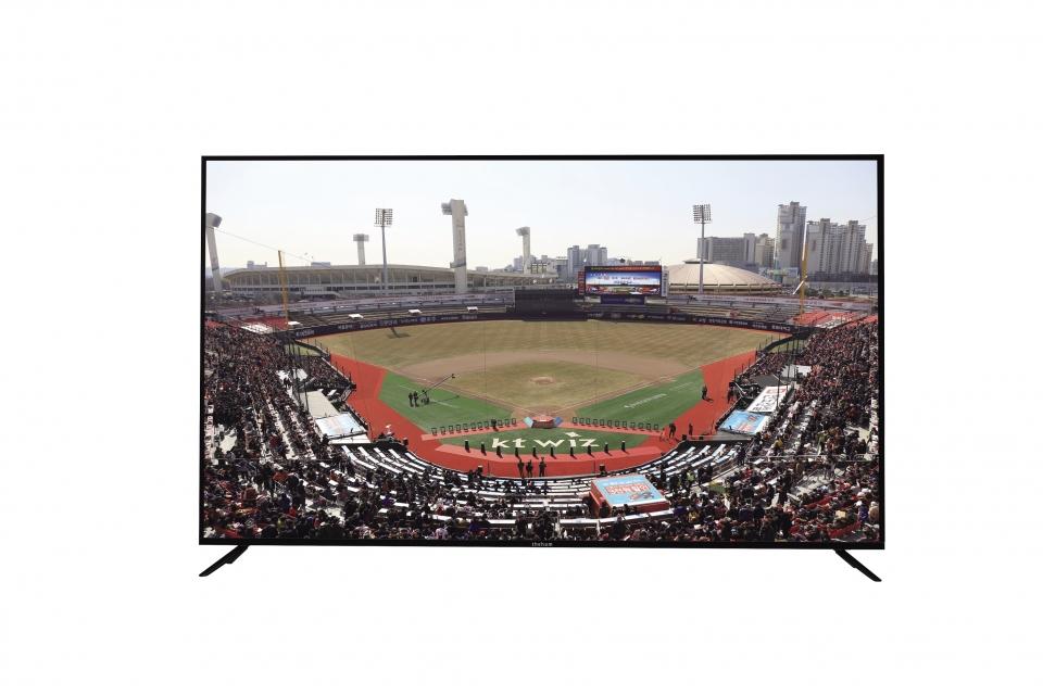 안드로이드 TV에서는 스마트폰보다 더 큰 화면에서 경기를 관람할 수 있다.