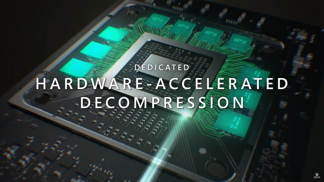 ▲ 다이렉트스토리지와 데이터 압축 · 해제로 NVMe SSD를 최대한 활용 (이미지: Xbox 유튜브 채널)