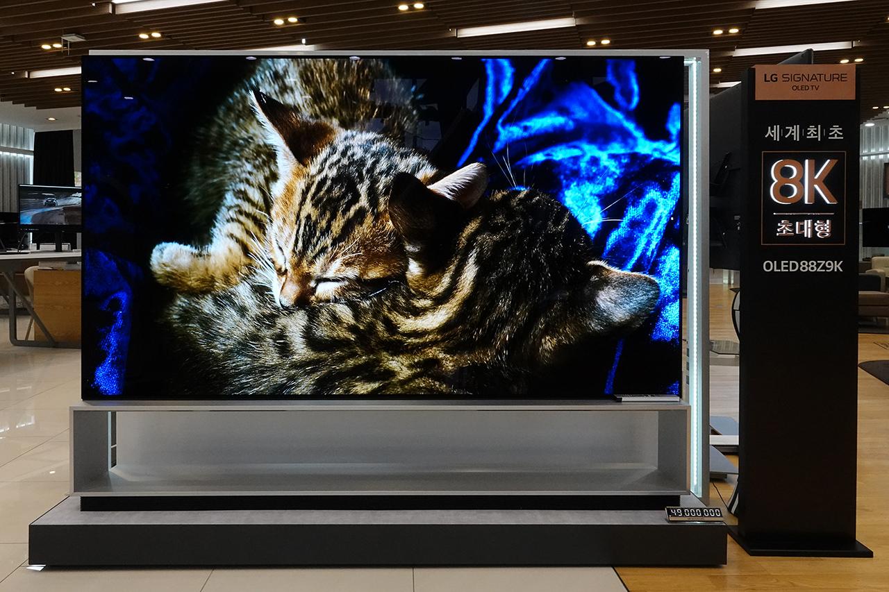 LG전자 88인치 8K OLED TV.
