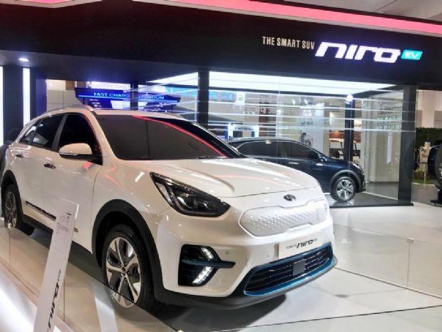 지난해 5회 제주국제전기차엑스포에서 세계 최초로 공개된 기아자동차 니로 EV (사진=지디넷코리아)
