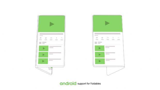 구글이 안드로이드 운영체제에 폴더블폰 지원 기능을 탑재하겠다고 밝혔다. (사진=구글)