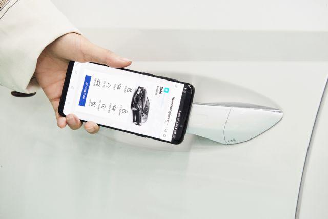 신형 쏘나타에 적용되는 '스마트폰 디지털키' (사진=현대기아차)