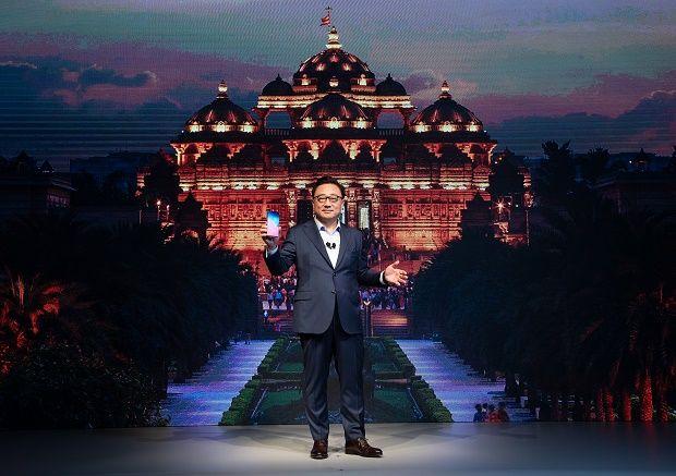 고동진 삼성전자 IT모바일(IM) 부문장 사장이 인도 갤럭시S10 출시 행사에 참석했다.(사진=삼성전자)