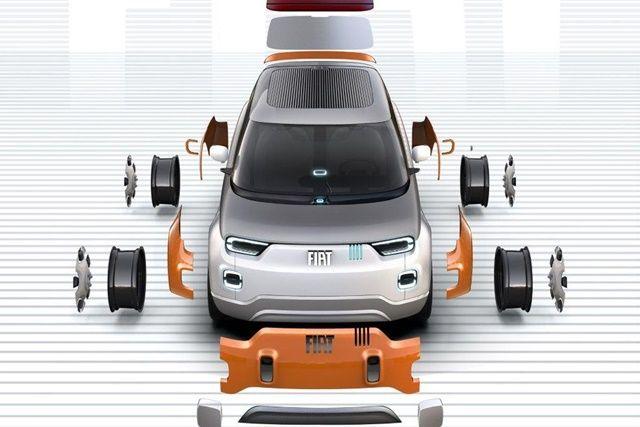피아트가 사용자가 자유롭게 커스터마이징할 수 있는 모듈식 전기자동차 컨셉을 선보였다. (사진=피아트)