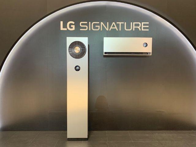 LG전자가 26일 올인원 에어컨 'LG 시그니처 에어컨'을 선보였다. (사진=지디넷코리아)