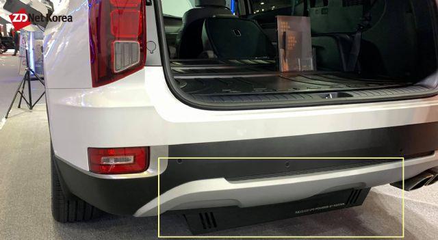 트렁크 하부에 59리터 LPG 연료 용기가 들어가 있는 팰리세이드 LPG 겸용 튜닝카 (사진=지디넷코리아)