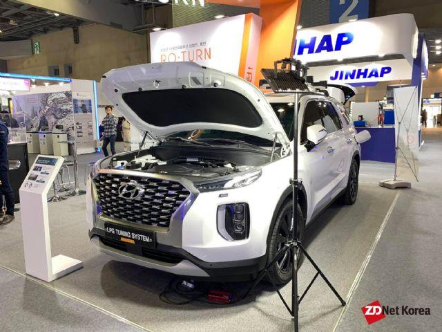 팰리세이드 LPG 액상직분사 튜닝시스템. 가솔린 기반 차량이다. (사진=지디넷코리아)