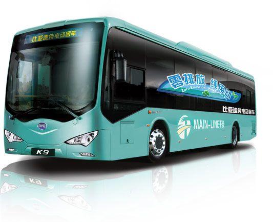 비야디가 미국에서 판매하는 전기버스 'K9' 모델 (사진=비야디)