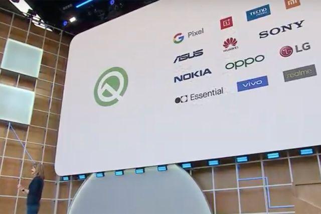 안드로이드Q 베타3 버전은 21개 기기에 설치할 수 있다.