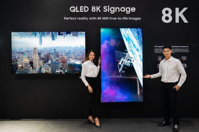 삼성전자가 동남아 인포콤 2019에 참가해 상업용 'QLED 8K 사이니지' 를 전시한다. (사진=삼성전자)