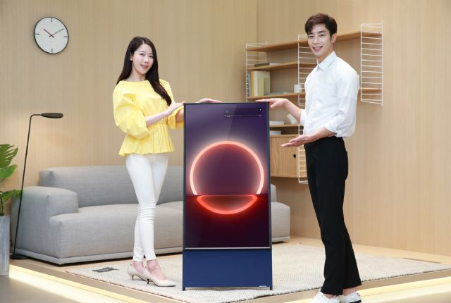 삼성전자가 세로형 TV '더 세로'의 온라인 사전 판매를 시작한다. (사진=삼성전자)