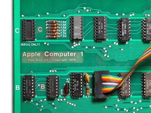애플1은 개인용 컴퓨터 시장에 혁명을 일으킨 제품이다. (사진=크리스티 경매)