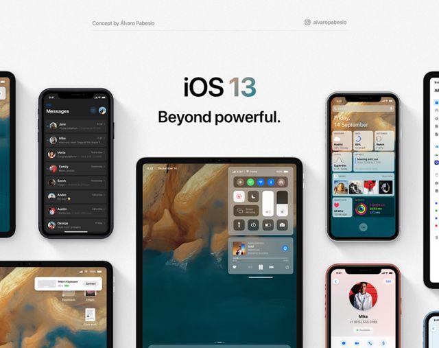 디자이너 알바로 파베지오는 그 동안 공개된 정보와 소문을 바탕으로 iOS13 컨셉 렌더링을 제작했다. (사진=알바로 파베지오)