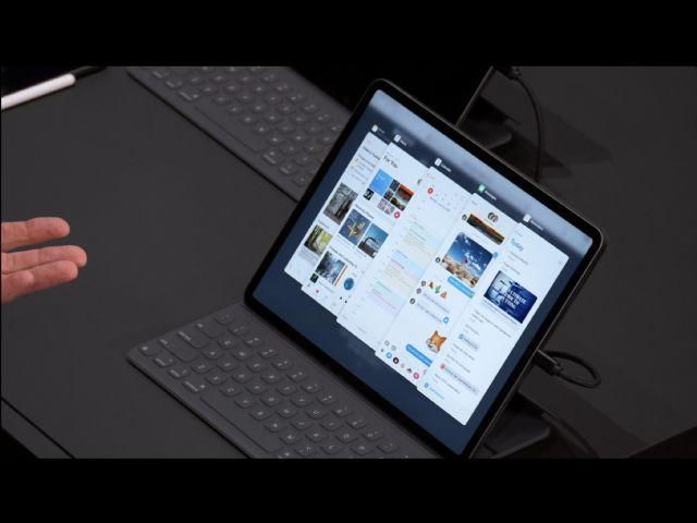 애플은 WWDC 2019에서 아이패드OS를 공개했다. (사진=CNET)