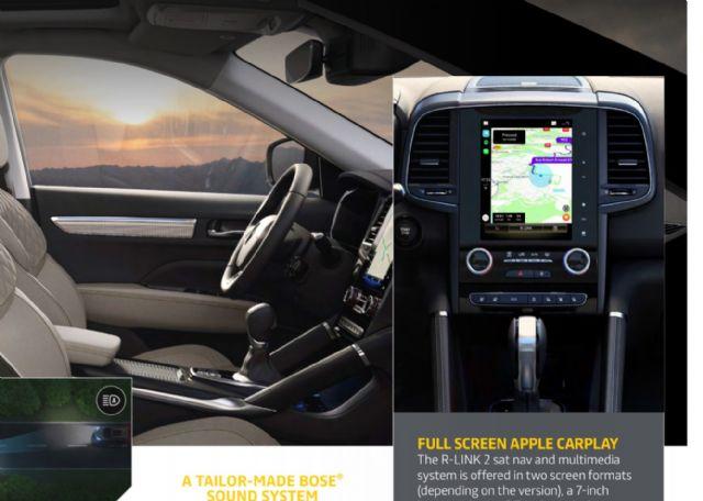 르노 콜레오스 부분변경 모델에 처음으로 세로형 디스플레이용 풀 스크린 애플 카플레이가 적용된다. (사진=르노 자료 일부 캡처)