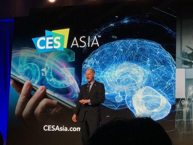 11일(현지시간) 중국 상하이에서 개막한 'CES ASIA 2019'에 개막연설을 한 개리 샤피로(Gary Shapiro) CTA회장.(사진=지디넷코리아)
