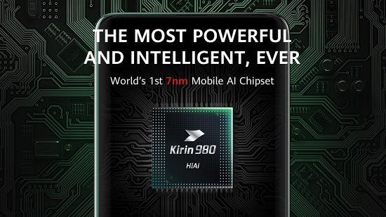 하이실리콘 기린 980 프로세서. ARM 코어텍스 아키텍처를 기반으로 했다. (사진=화웨이)