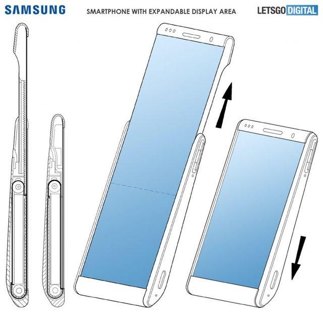삼성전자가 수직형 롤러블 스마트폰 특허를 취득했다. (사진=레츠고디지털)