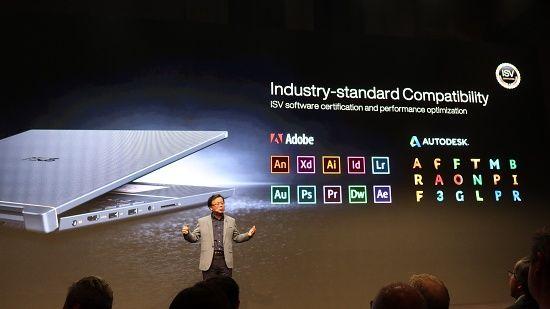 에이수스는 프로아트 제품군이 주요 소프트웨어와 호환성을 확보하고 있다고 밝혔다. (사진=지디넷코리아)