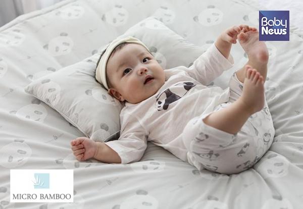마이크로 밤부 아기 이불세트는 아기의 쾌적한 수면에 도움을 준다. ⓒ밤부베베