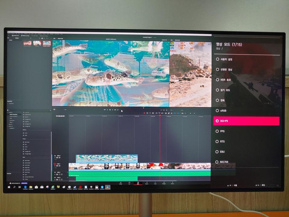 DCI-P3 98%를 지원해 영상 편집에도 적합하다.