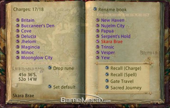 이렇게 좌표를 찍은 룬을 책으로 들고다니면 교통 정체는 걱정할 필요가 없다 (사진출처: 게임 공식 홈페이지)