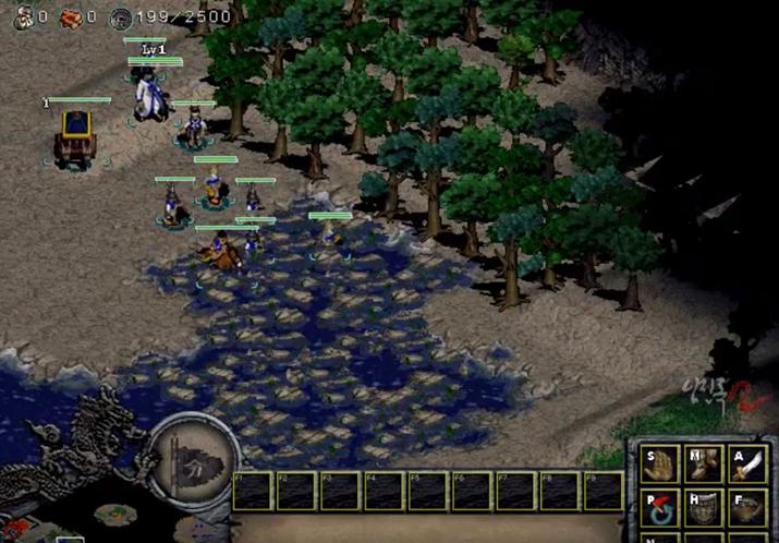 '임진록 2'는 독특한 그래픽과 게임 시스템으로 한국사 게임의 새로운 지평을 열었다 (사진출처: acesaga 유튜브 영상 갈무리)