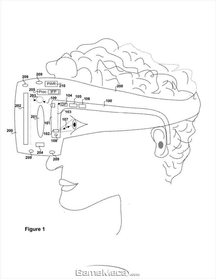 소니는 아이트래킹이 적용된 VR 헤드셋 보조안경에 대한 특허를 획득했다 (자료출처: 미국특허청 공개자료)