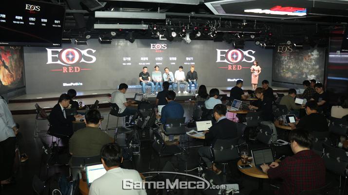 모바일 MMORPG '에오스 레드' 미디어 쇼케이스 현장 (사진: 게임메카 촬영)